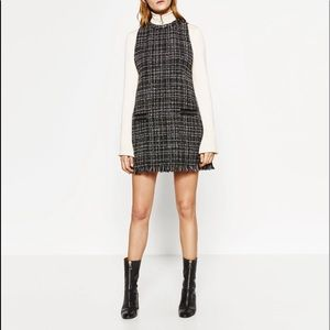 NWT Zara Check Dress - Dark Gray